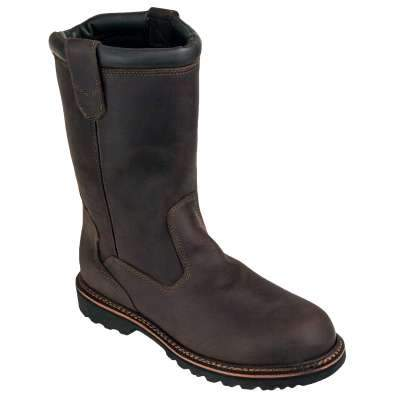 Men's Steel Toe EH Brown Slip-Resistant V-Series Wellingtons