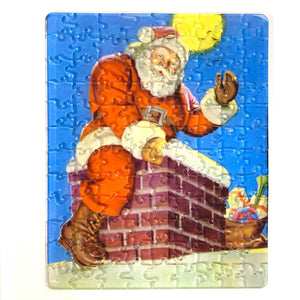 Santa Claus at the Chimney! - Jewel Puzzle