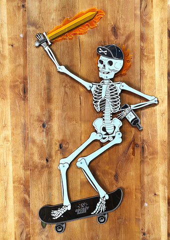 Degenerate Teenage Skeleton - Limited Edition in Wood