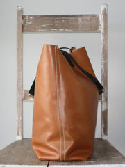 Butter Leather Tote Bag Caramel, , Bags,  - 3