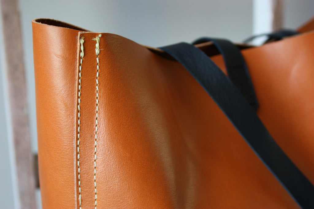 Butter Leather Tote Bag Caramel - Ovae