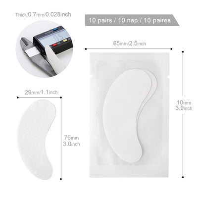 10/20/50 Pairs Eyelash Pad Gel Patch Grafting Eyelashes Under Eye Patches For Eyelash Extension Paper Sticker Wraps Makeup Tools