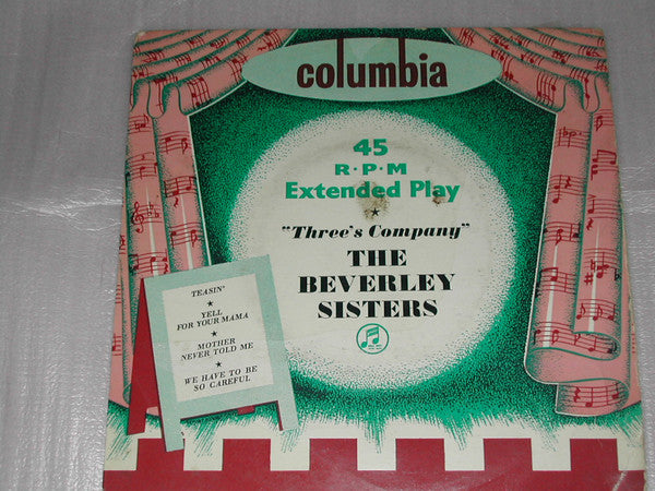 "The Beverley Sisters : Three's Company (7"", EP)"