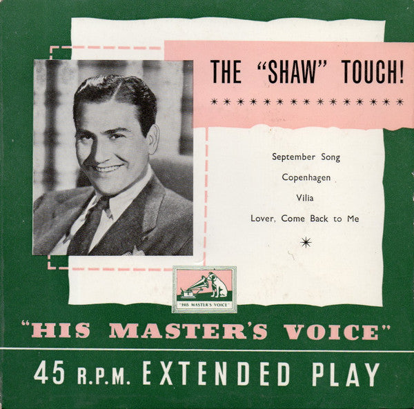 "Artie Shaw And His Orchestra : The ""Shaw"" Touch! (7"", EP, Comp)"
