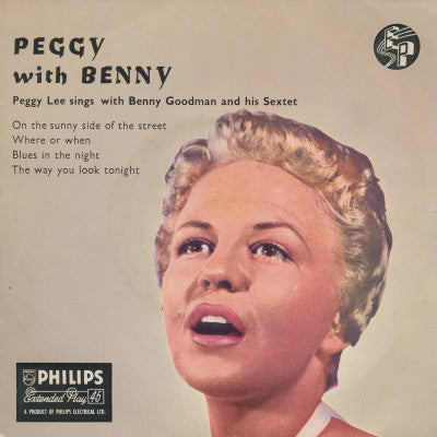 "Peggy Lee Sings With The Benny Goodman Sextet* : Peggy With Benny (7"", EP)"