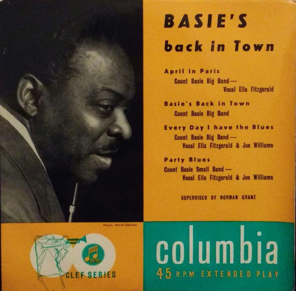 "Count Basie : Basie's Back In Town (7"", EP)"