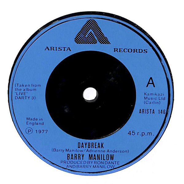 "Barry Manilow : Daybreak (7"", Single, Sol)"