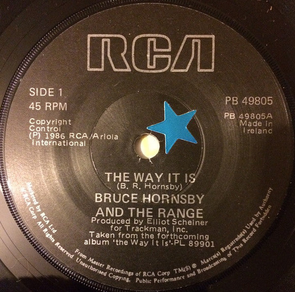 "Bruce Hornsby And The Range : The Way It Is (7"", Single)"