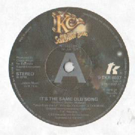 "KC And The Sunshine Band* : It's The Same Old Song / Let's Go Party (7"", Promo)"