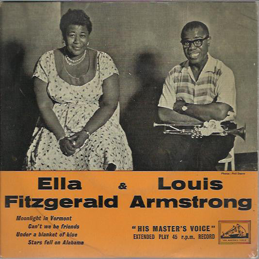 "Ella Fitzgerald & Louis Armstrong : Moonlight In Vermont / Can't We Be Friends / Under A Blanket Of Blue / Stars Fell On Alabama (7"", EP, Ora)"