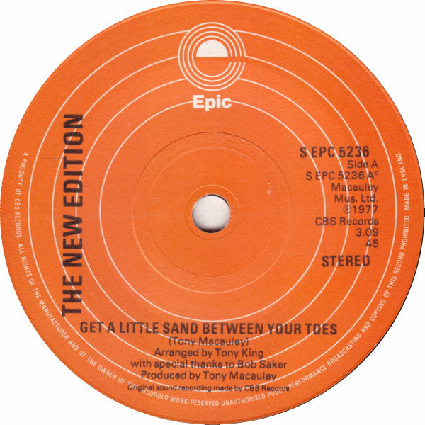 "The New Edition : Get A Little Sand Between Your Toes (7"", Single)"