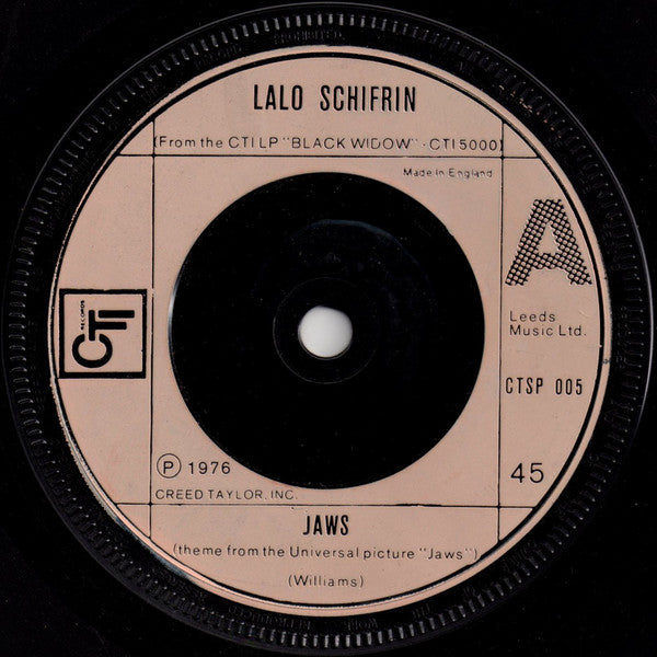 "Lalo Schifrin : Jaws (7"", Sol)"