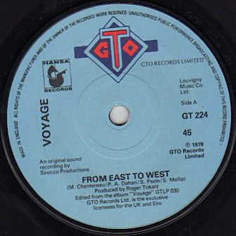 "Voyage : From East To West (7"", Single)"