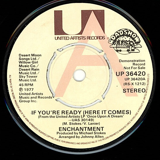 "Enchantment : If You're Ready (Here It Comes) (7"", Promo)"