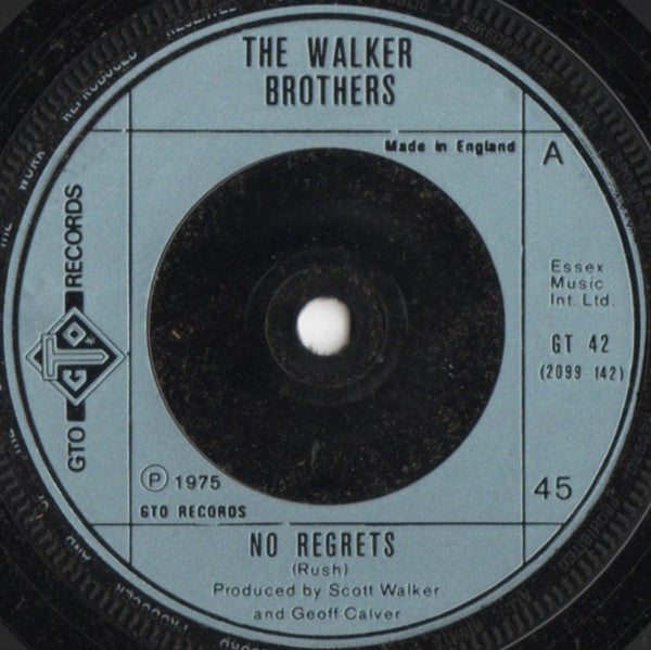 "The Walker Brothers : No Regrets (7"", Single)"