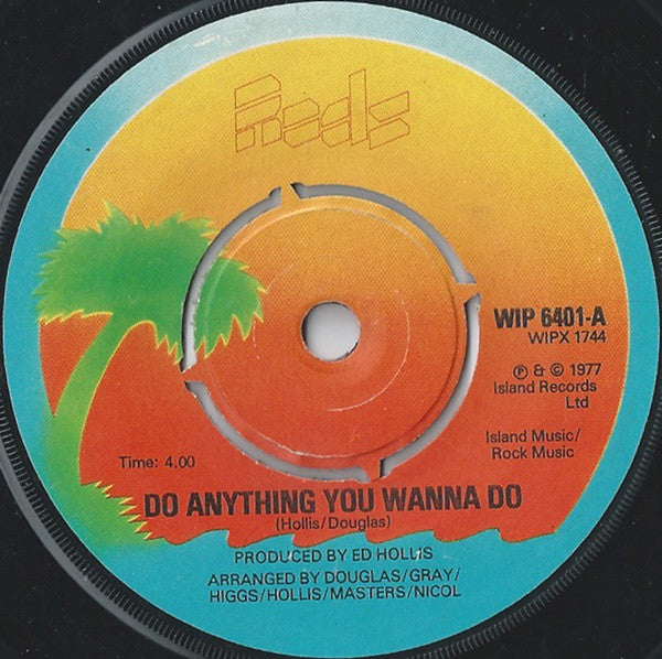 "Eddie And The Hot Rods : Do Anything You Wanna Do (7"", Single, Kno)"