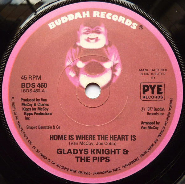 "Gladys Knight & The Pips* : Home Is Where The Heart Is (7"", Single, Sol)"
