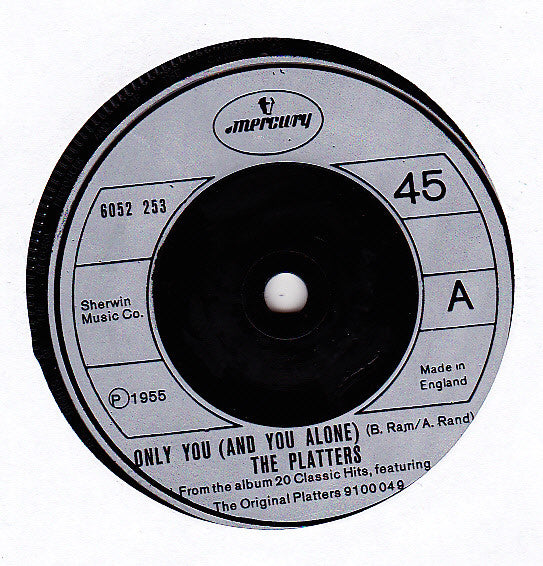 "The Platters : Only You (And You Alone) (7"", Single)"