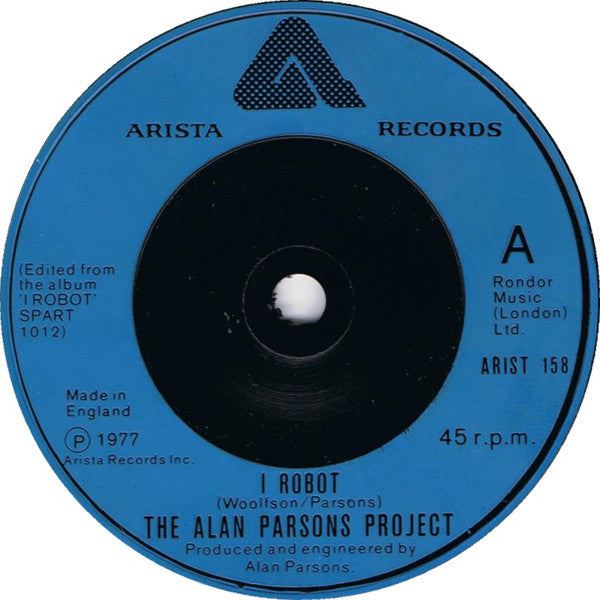 "The Alan Parsons Project : I Robot (7"", Single)"