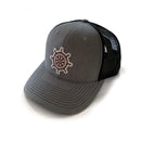 Trucker Hat - Heather Grey / Black Mesh - Bent Brim