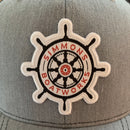 Trucker Hat - Heather Grey / White Mesh - Bent Brim