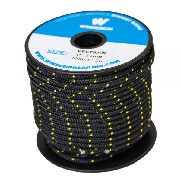 3mm Black and Gold Vectran Mini Spool (16m)