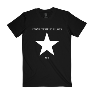 Black No. 4 Star Tee