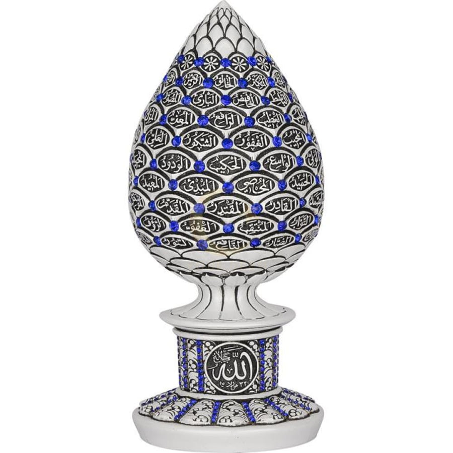 99 Names of Allah Ornament (Blue/White)