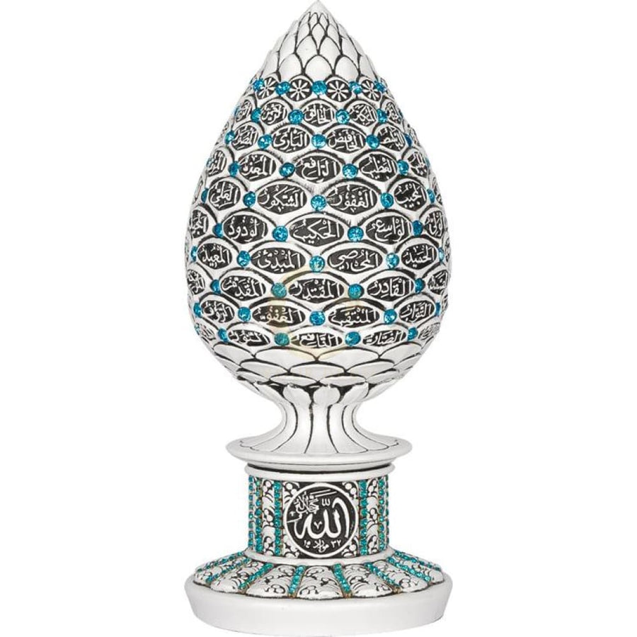 99 Names of Allah Ornament (Turquoise/White)