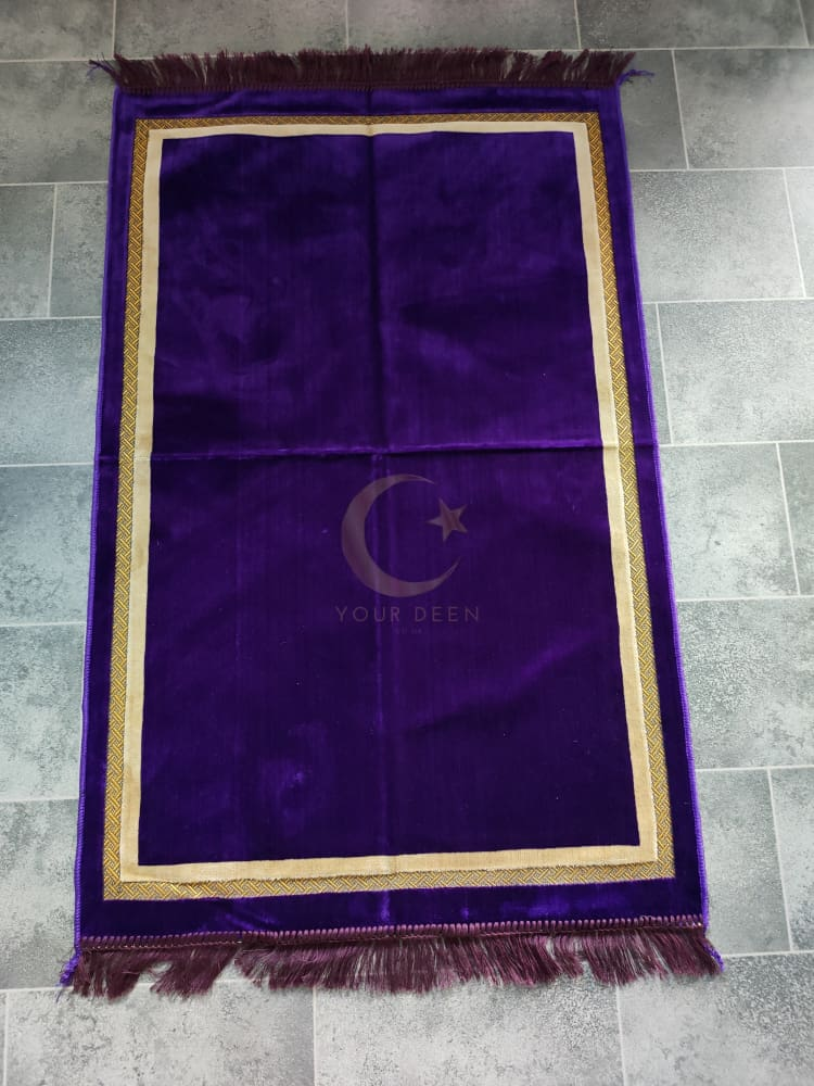 Adult Prayer Mat (Purple & Gold)