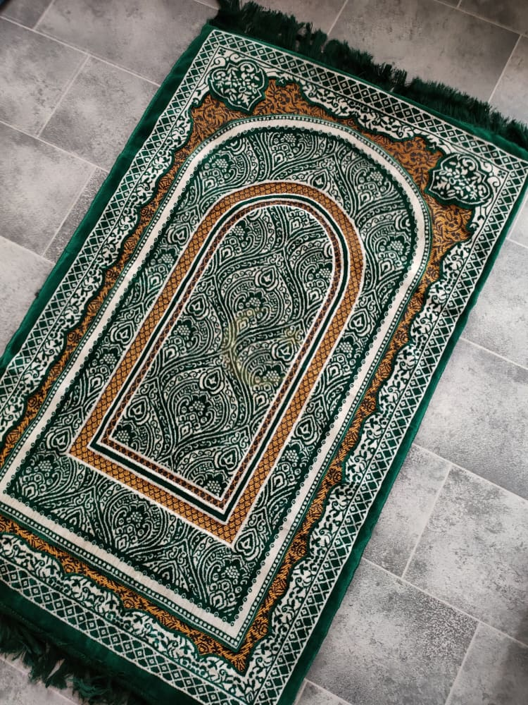Foam Padded Adult Prayer Mat (Green)