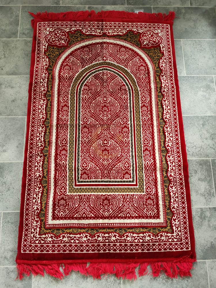 Foam Padded Adult Prayer Mat (Red)