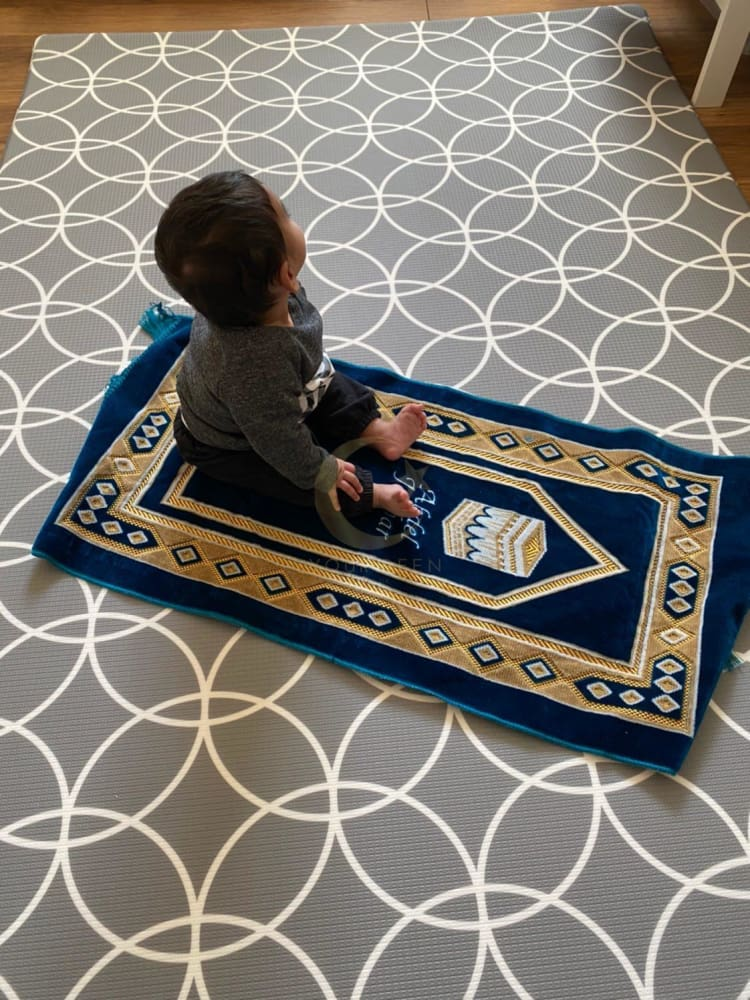 Personalised Kids Prayer Mat (Blue)