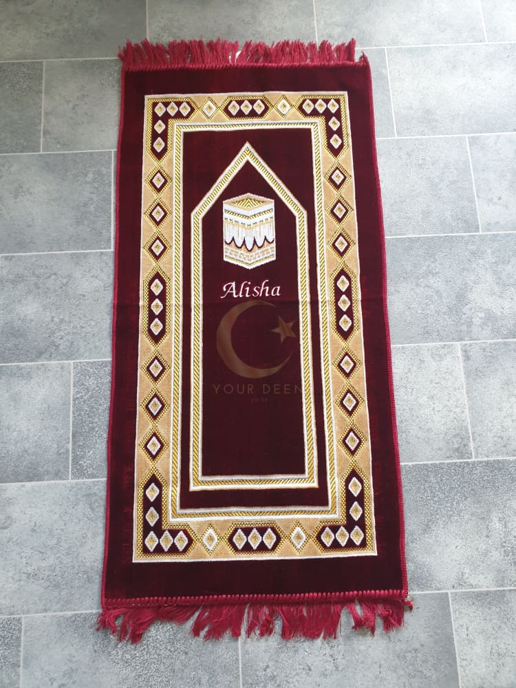 Personalised Kids Prayer Mat (Red)