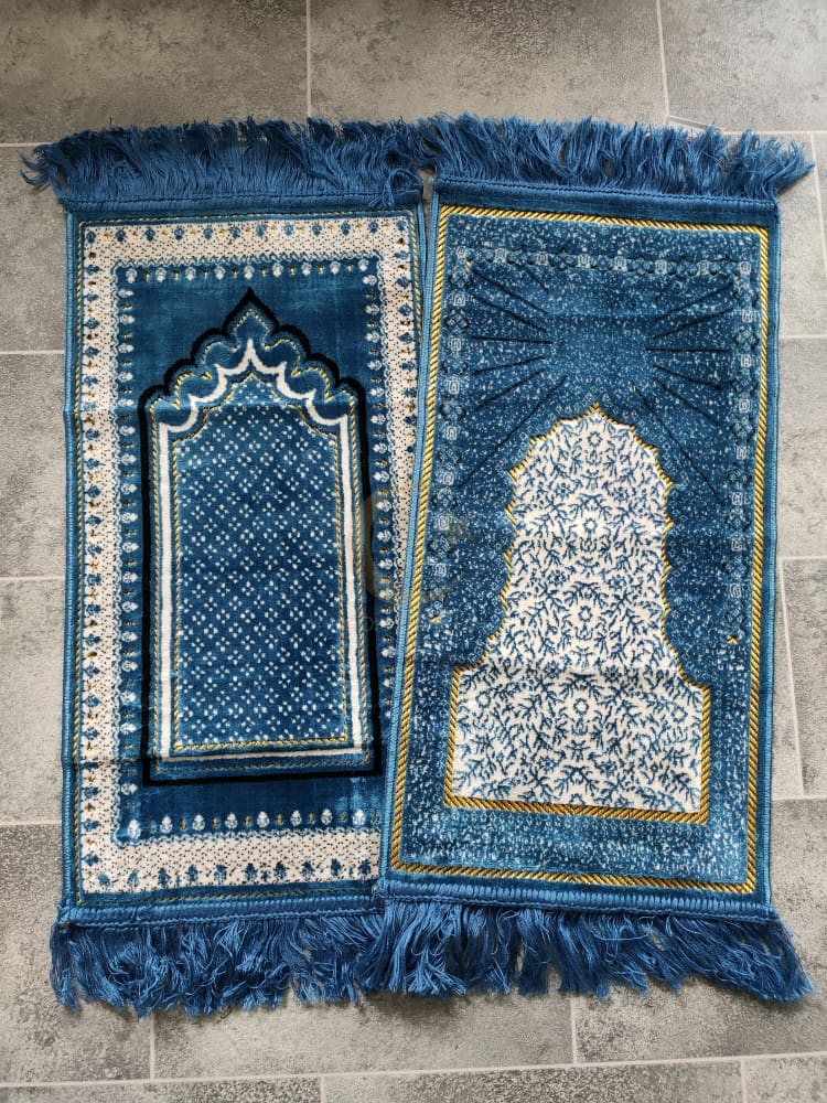 Personalised Small Baby/Toddler Prayer Mat (Blue)