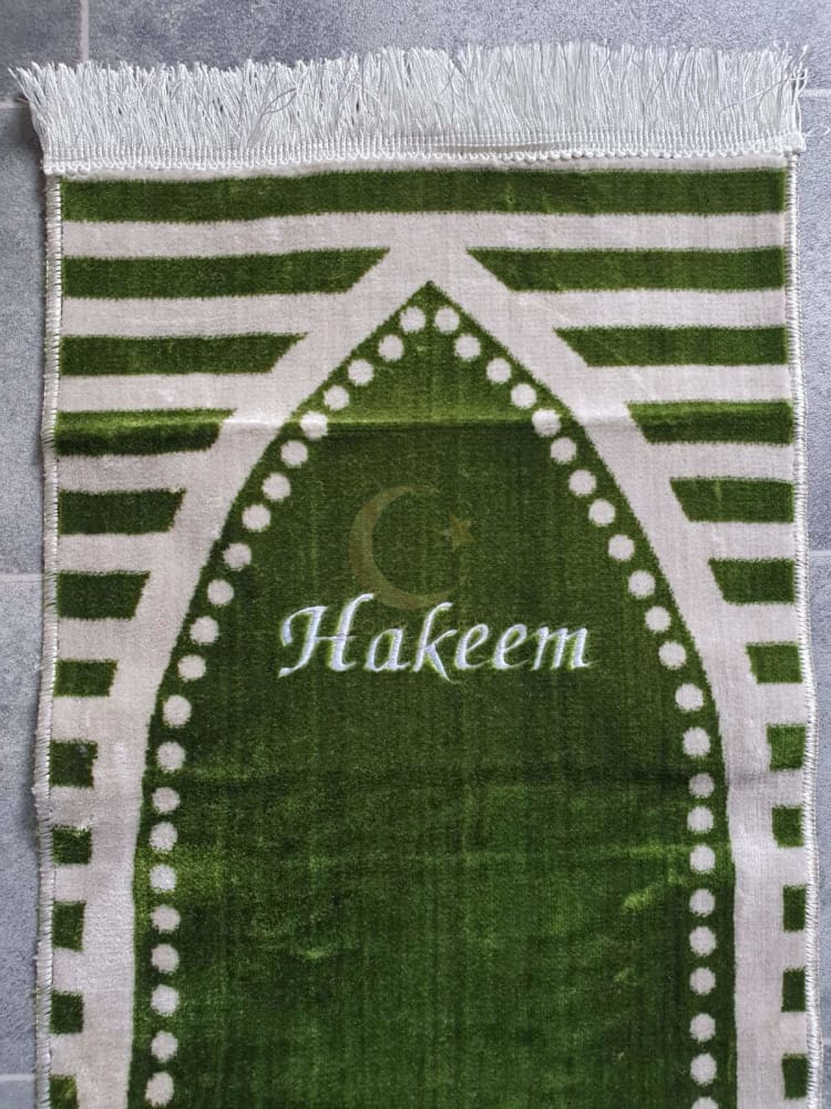 Personalised Small Baby/Toddler Prayer Mat (Green)