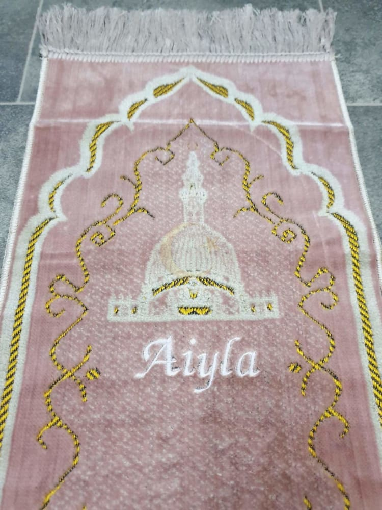 Personalised Small Baby/Toddler Prayer Mat (Pink)