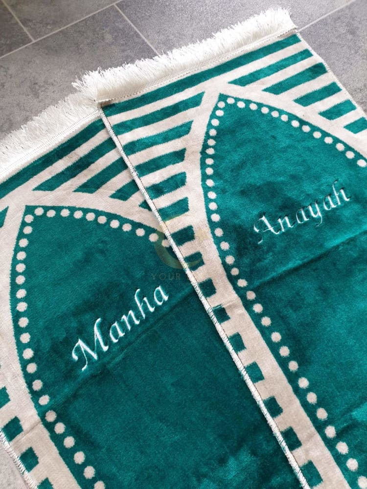 Personalised Small Baby/Toddler Prayer Mat (Sea Green)