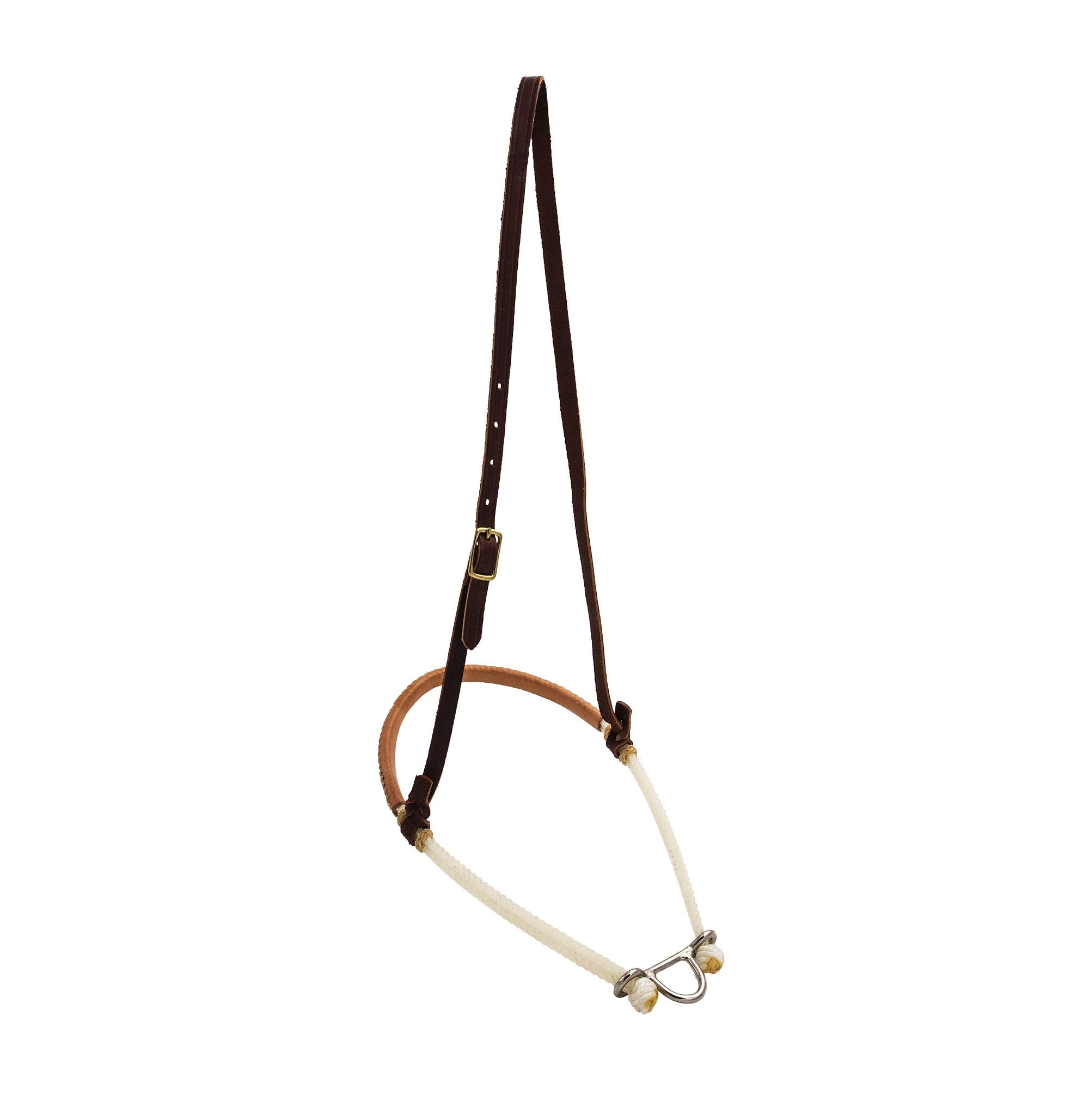 Flat Leather Double Rope Noseband