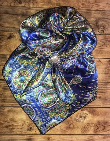 Silky Polyester Charmeuse Wild Rag ~ Paisley Patterns