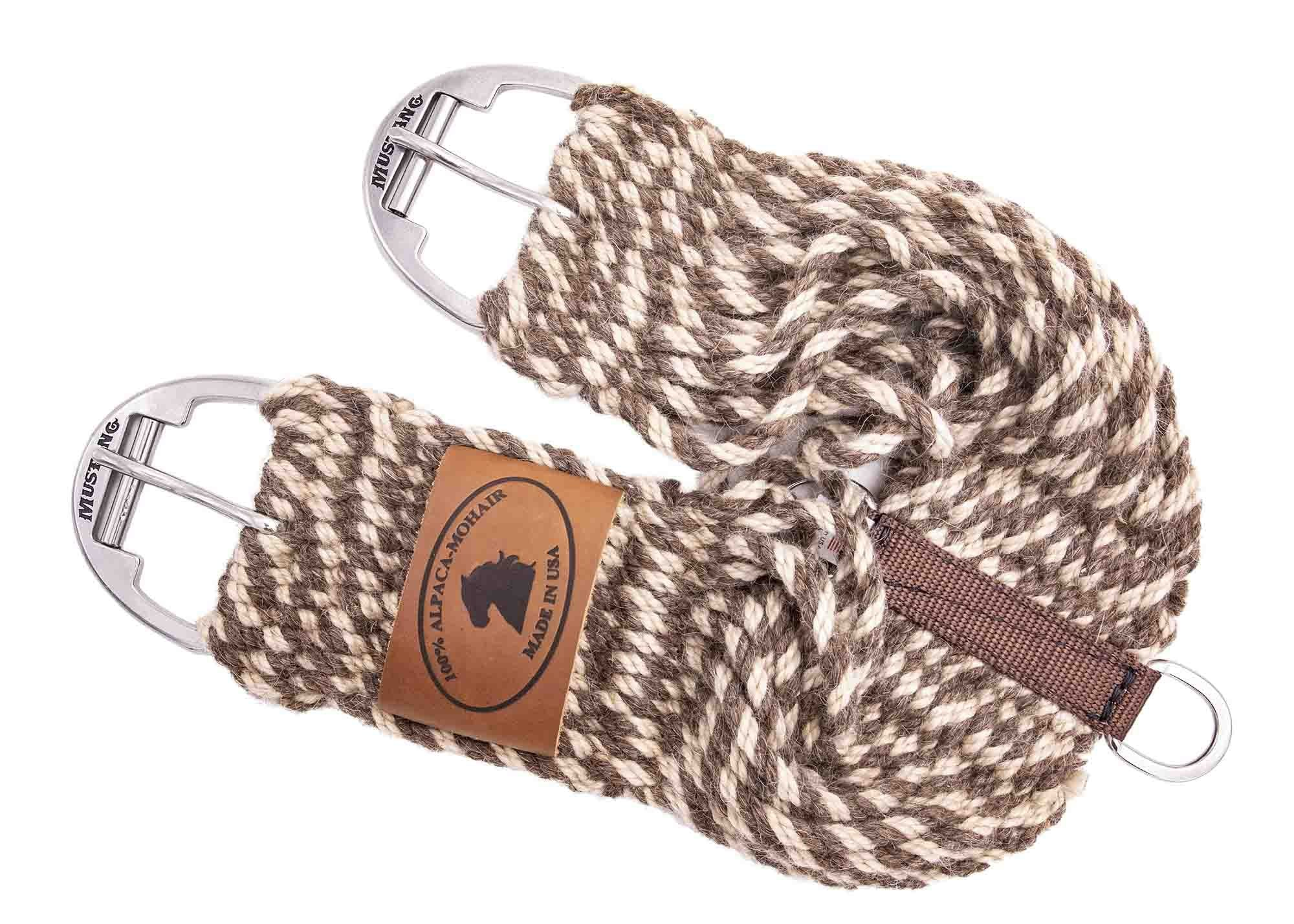 Mustang Alpaca Mohair Twist Straight Cinch - Animal Health Express