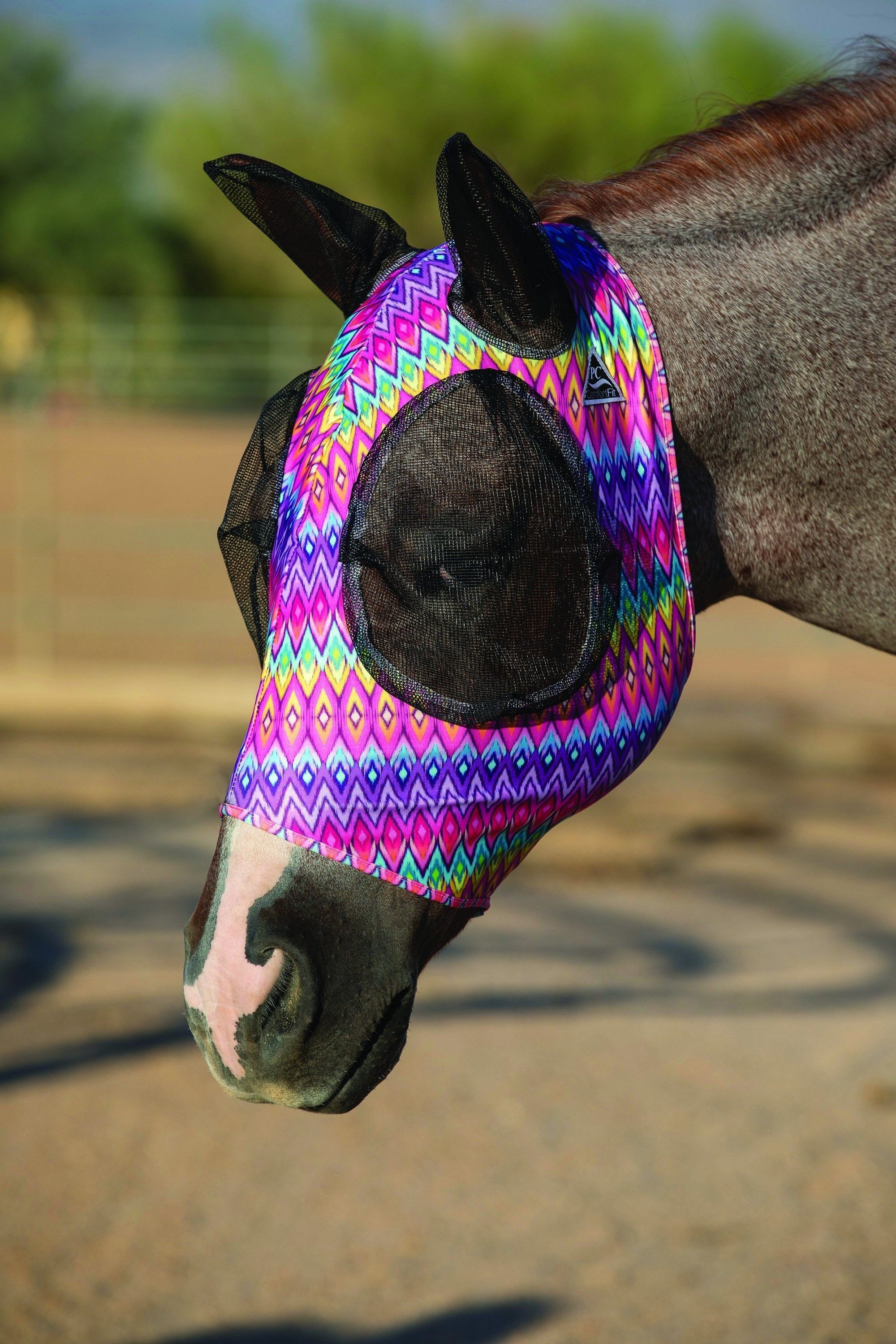 Professional's Choice Lycra Fly Mask - Vaquera