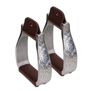 "3"" ALUMINUM ENGRAVED STIRRUPS - Animal Health Express"