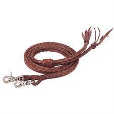 Weaver Leather Round Braided Latigo Leather Split Reins