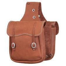Weaver Leather Distressed Top Grain Leather Saddle Bags