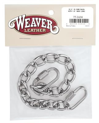 Stainless Steel Curb Chain with Quick Links - Vaquera