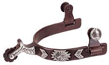 Men's Chap Guard Spurs with Engraved German Silver Trim, Antiqued - Animal Health Express