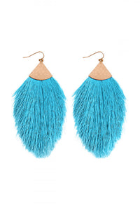 "Blue ""POP"" Tassel Drop"