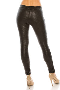 Date Night Black Sequin Legging
