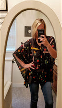 Load image into Gallery viewer, Geo Wildflower Kimono Blouse